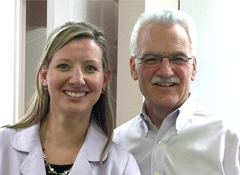 Dr. Carroll and Dr. Shoemaker smiling