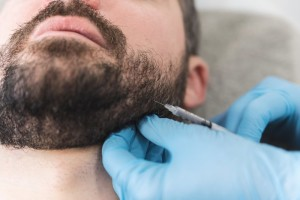 person getting BOTOX in Louisville for TMJ therapy